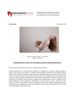Press release for Smashing Times Youth Ensemble production, Flaming Inspirations 1_Page_1